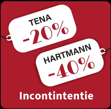 Incontinentiemateriaal Hartmann en Tena